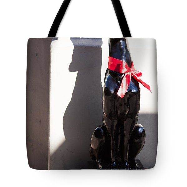 He Wore A Red Bow Tote Bag
