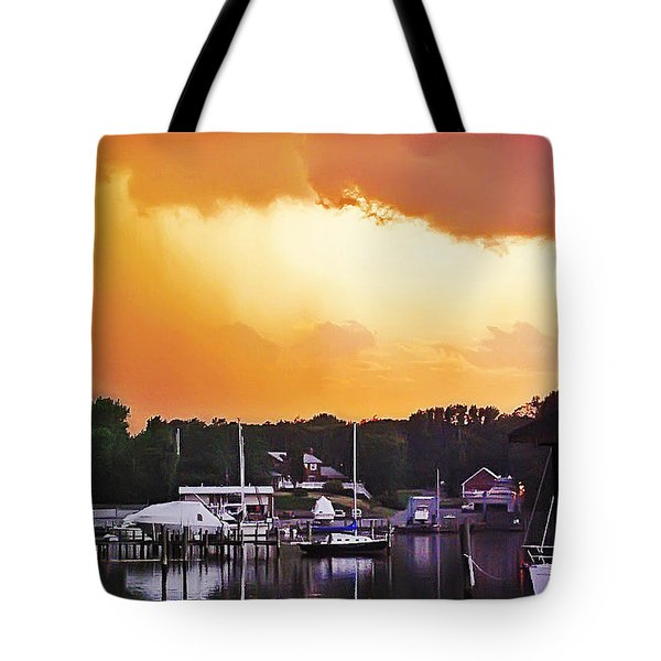 Tote Bag featuring the photograph Head For Safety by Brian Wallace