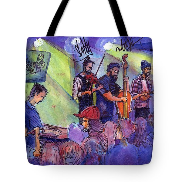 Head For The Hills At Barkley Ballroom Tote Bag by David Sockrider