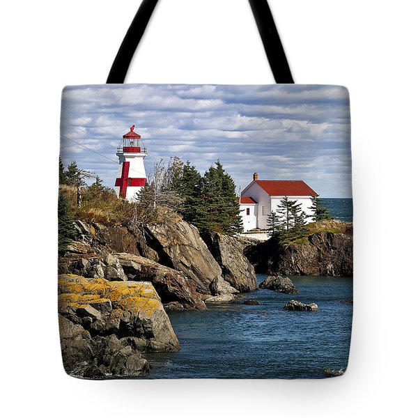 Head Harbour Lighthouse Tote Bag by John Greim