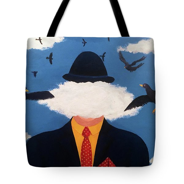 Head In The Cloud Tote Bag by Thomas Blood
