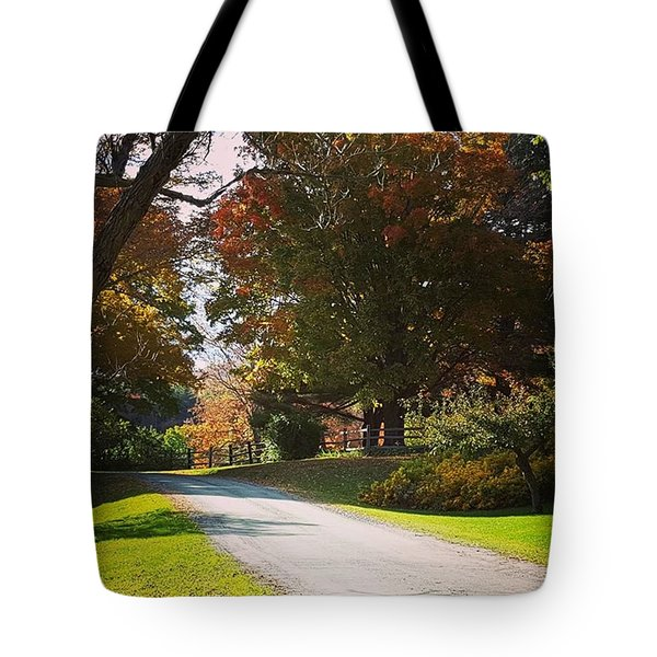 The Hills Above Woodstock Vt Tote Bag