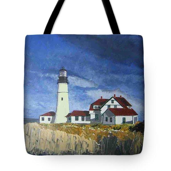 Head Lighthouse  Tote Bag