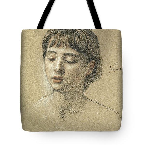 Head Of A Girl, 1883 Tote Bag