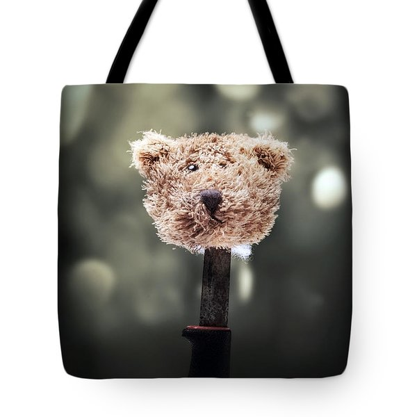 Head Of A Teddy Tote Bag by Joana Kruse