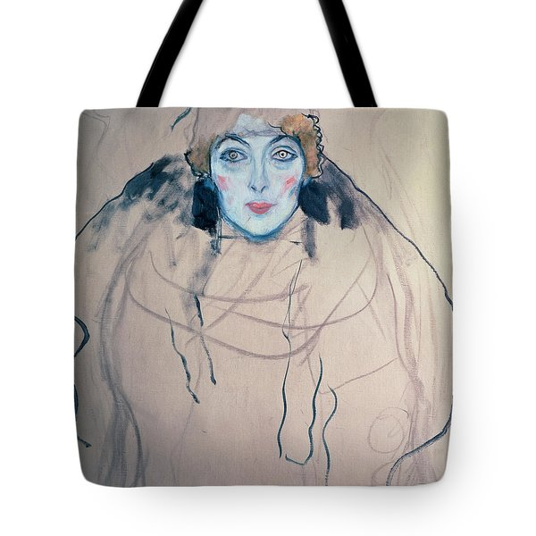 Head Of A Woman Tote Bag by Gustav Klimt