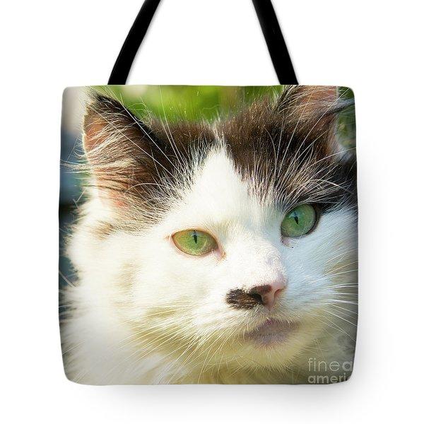 Head Of Cat Tote Bag