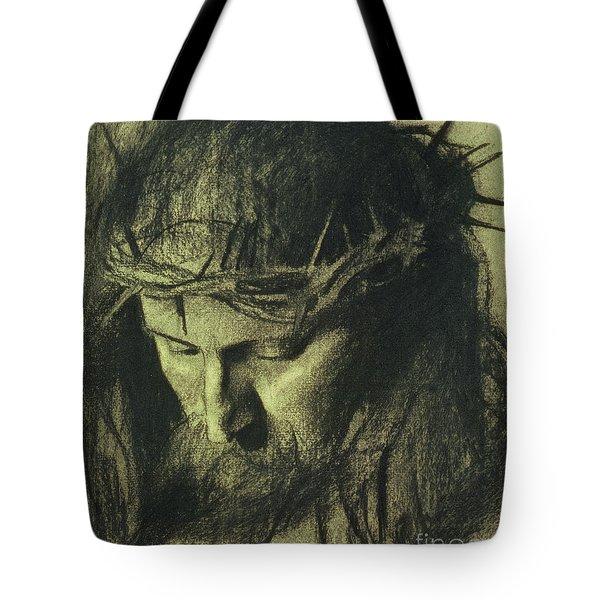 Head Of Christ Tote Bag
