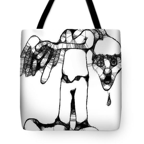 Head Of Man Tote Bag