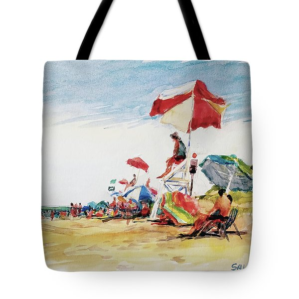 Head  Of The Meadow Beach, Afternoon Tote Bag by Peter Salwen