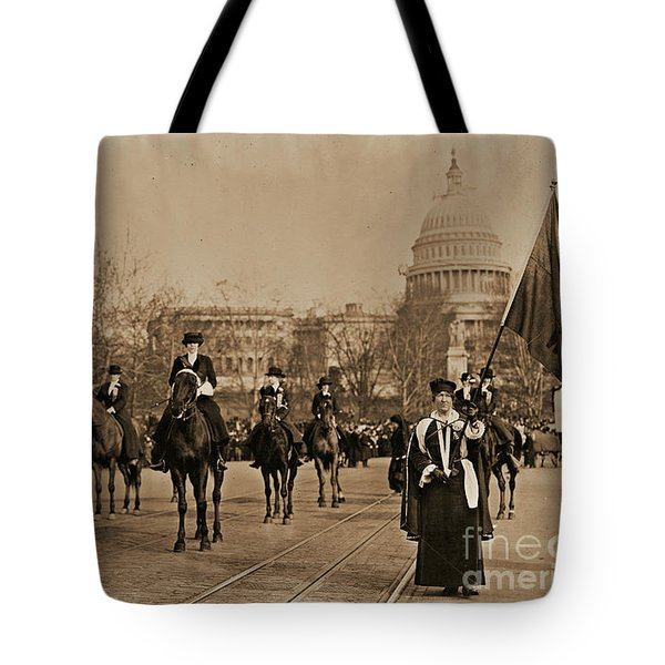 Head Of Washington D.c. Suffrage Parade Tote Bag by Padre Art