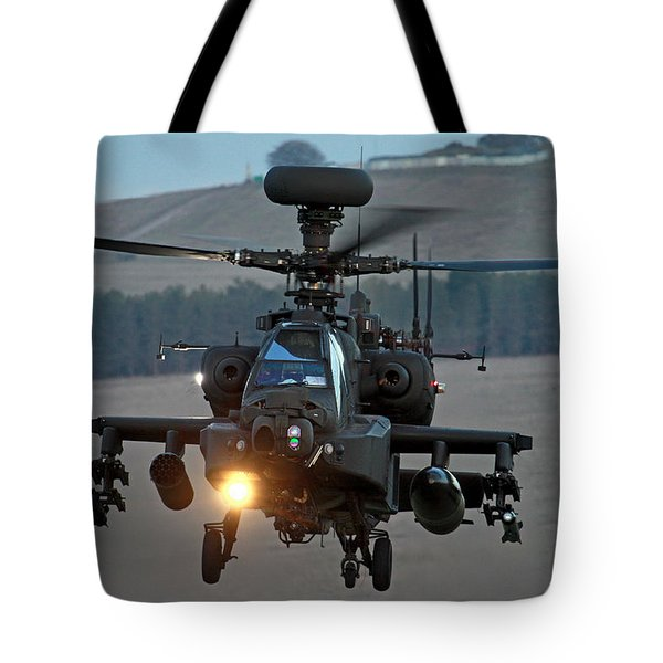 Head On Ah64 Apache Tote Bag