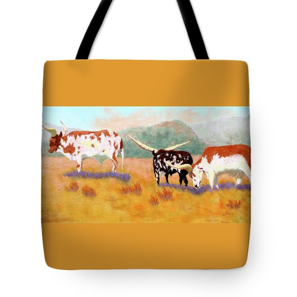 Headed For The Barn Tote Bag by Nancy Jolley