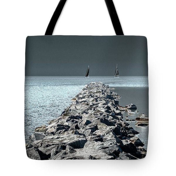Headed For The Rocks Tote Bag