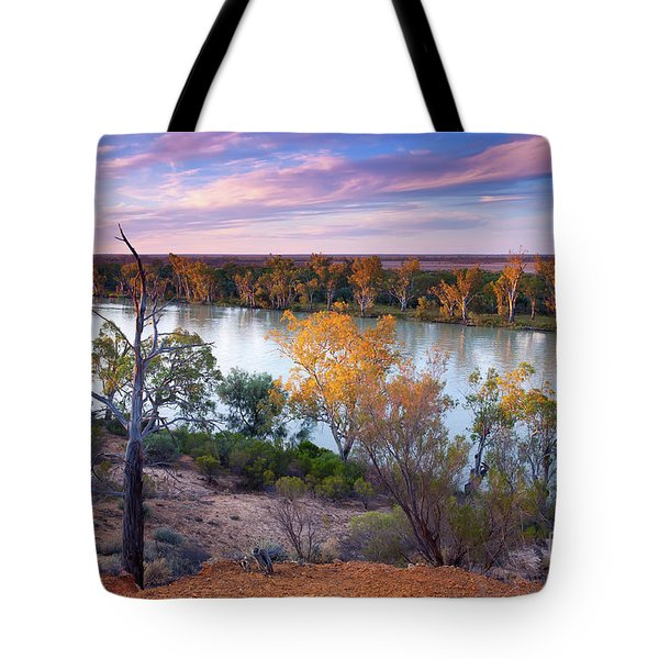 Heading Cliffs Murray River South Australia Tote Bag