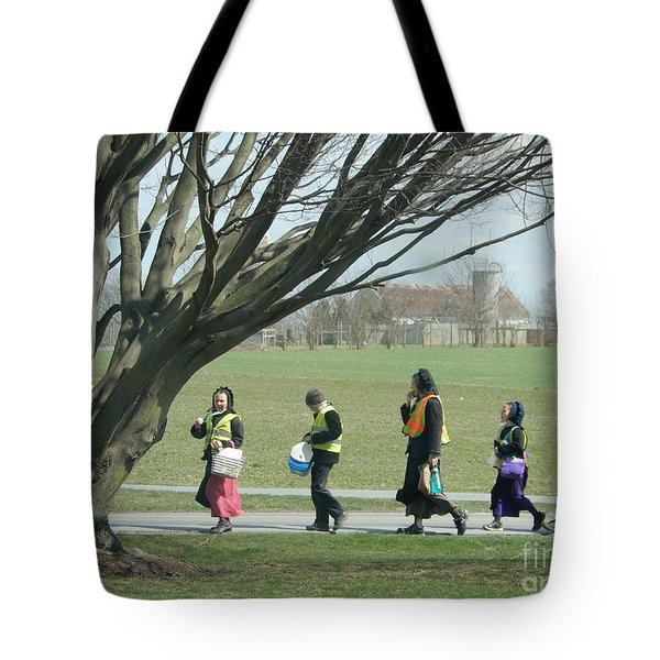 Heading Home From School Tote Bag