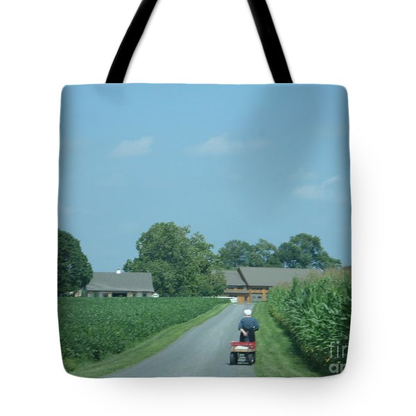 Heading Home From The Market Tote Bag