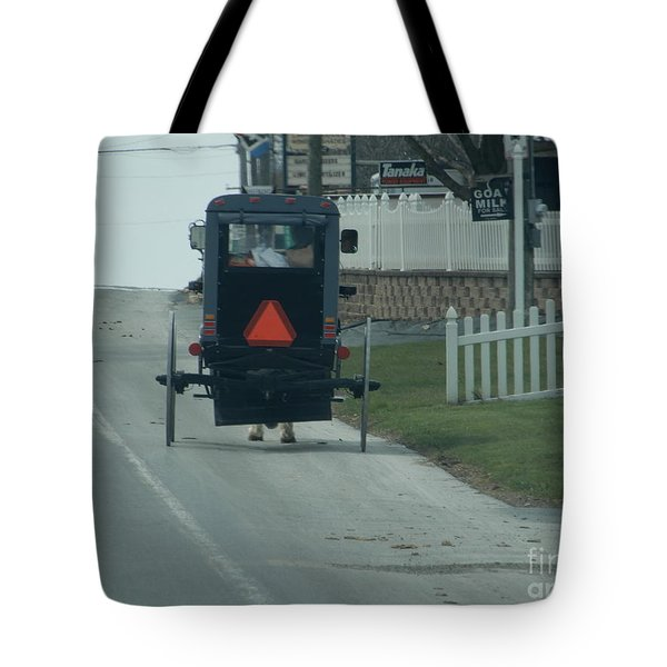 Heading Home From The Store Tote Bag