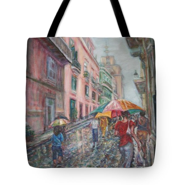 Heading Home In Havava Tote Bag by Quin Sweetman
