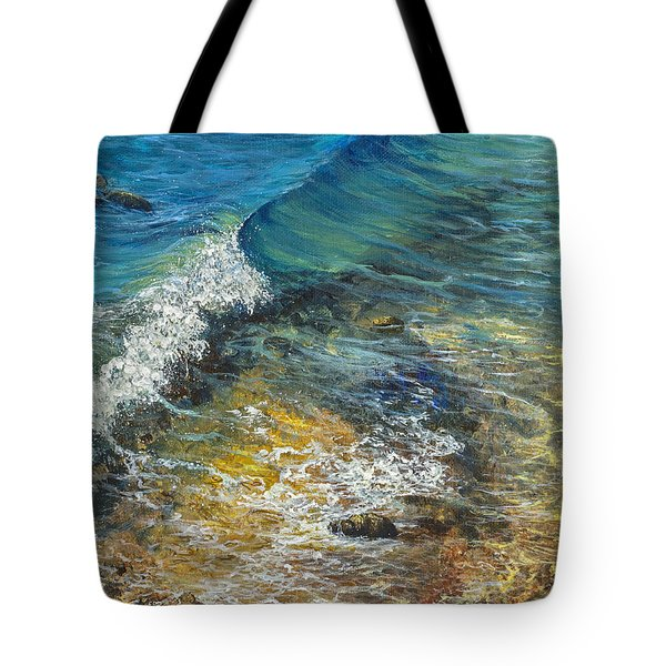 Tote Bag featuring the painting Heading Out To Sea by Darice Machel McGuire