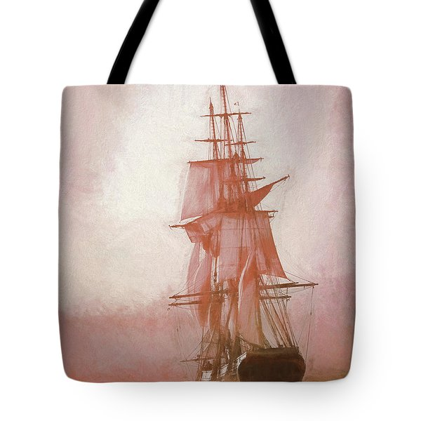 Tote Bag featuring the photograph Heading To Salem From The Sea by Jeff Folger