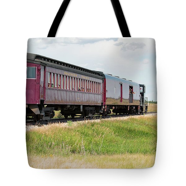 Tote Bag featuring the photograph Heading To Town by David Buhler