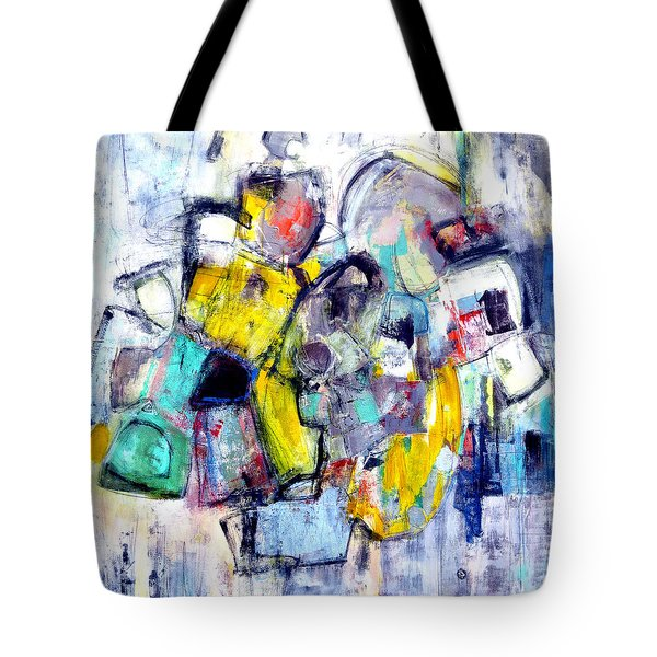 Tote Bag featuring the painting Heads Up by Katie Black