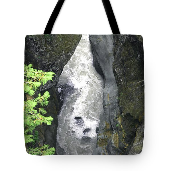 Headwaters Of The Cowlitz River Tote Bag by Rich Collins