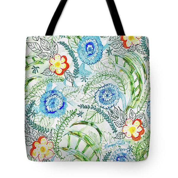 Tote Bag featuring the painting Healing Garden by Monique Faella
