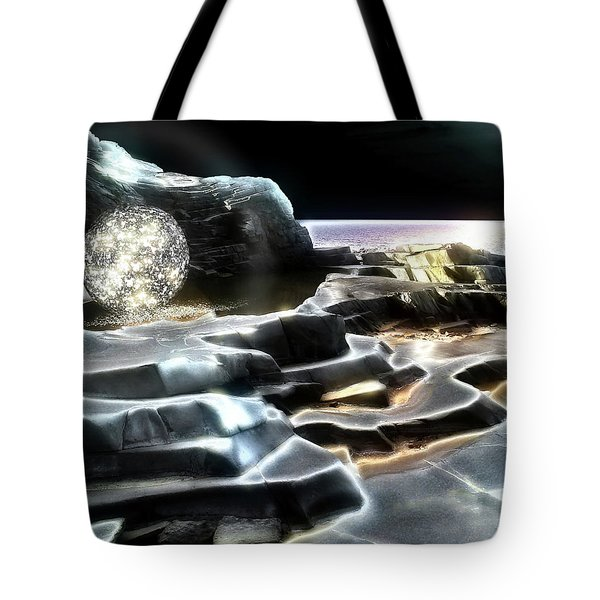 Tote Bag featuring the digital art Healing Waters by Pennie  McCracken