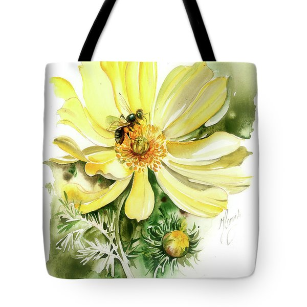 Tote Bag featuring the painting Healing Your Heart by Anna Ewa Miarczynska