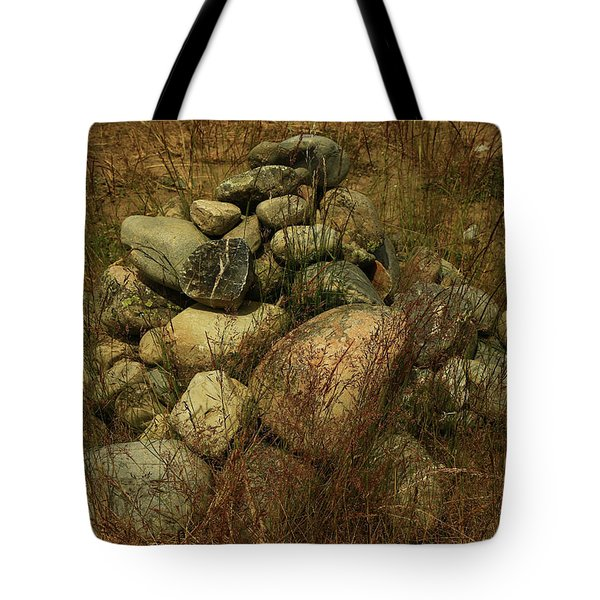Heap Of Rocks Tote Bag by Nareeta Martin