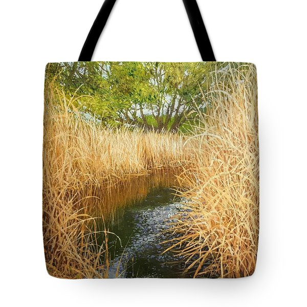 Hear The Croaking Frogs Tote Bag