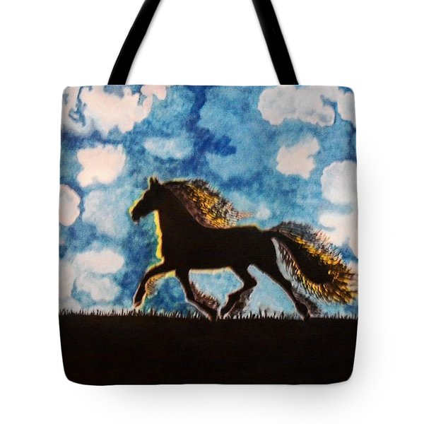 Tote Bag featuring the painting Hearing Thunder by Connie Valasco