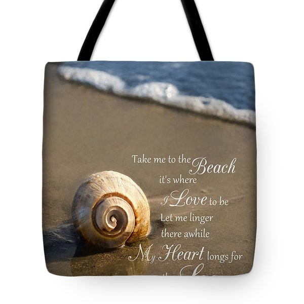 Heart And Sea Tote Bag