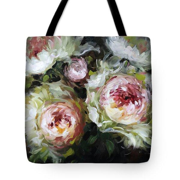 Heart And Soul Peonies Tote Bag