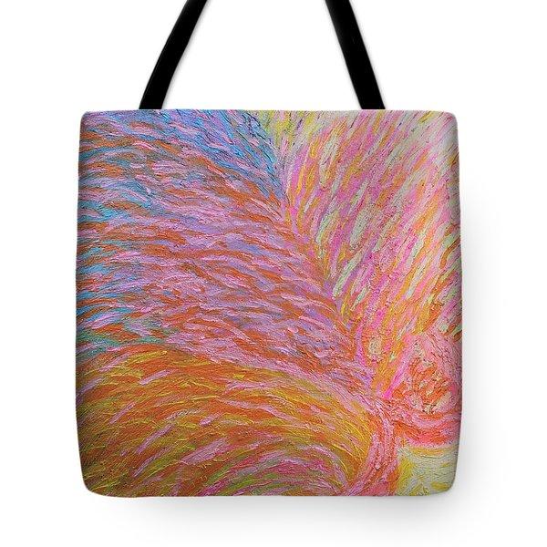 Heart Burst Tote Bag by Rachel Hannah