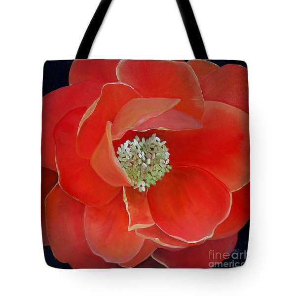 Heart-centered Rose Tote Bag