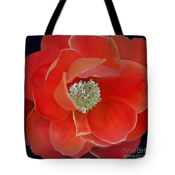 Heart-centered Rose Tote Bag