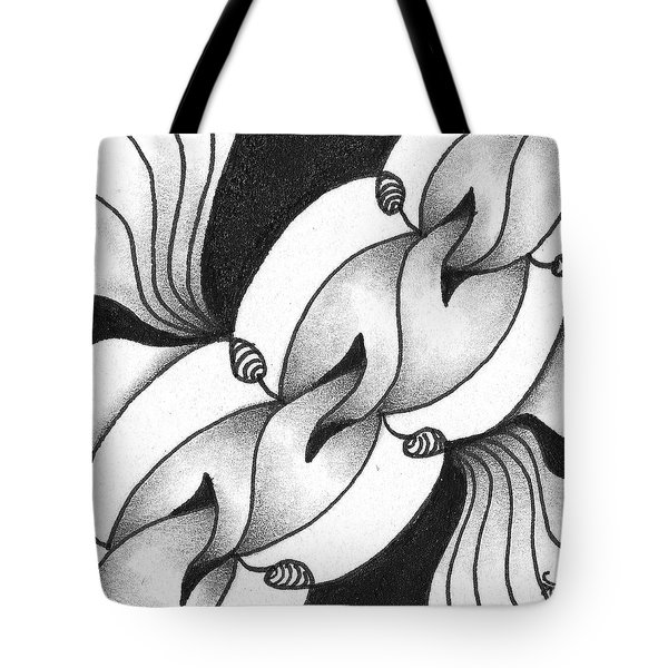 Tote Bag featuring the drawing Heart Connections by Jan Steinle