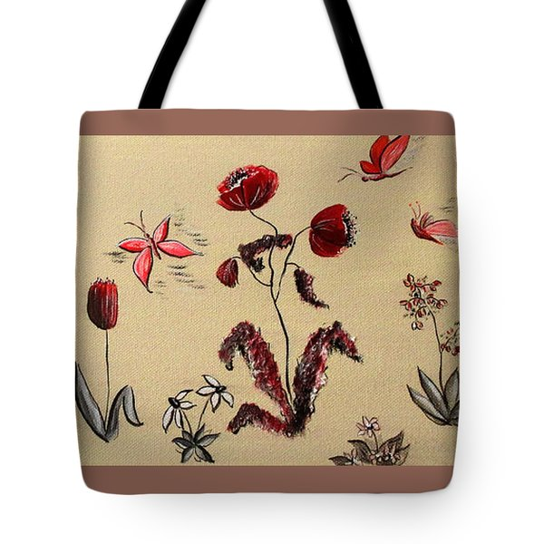 Heart Cottage Red 3 Tote Bag