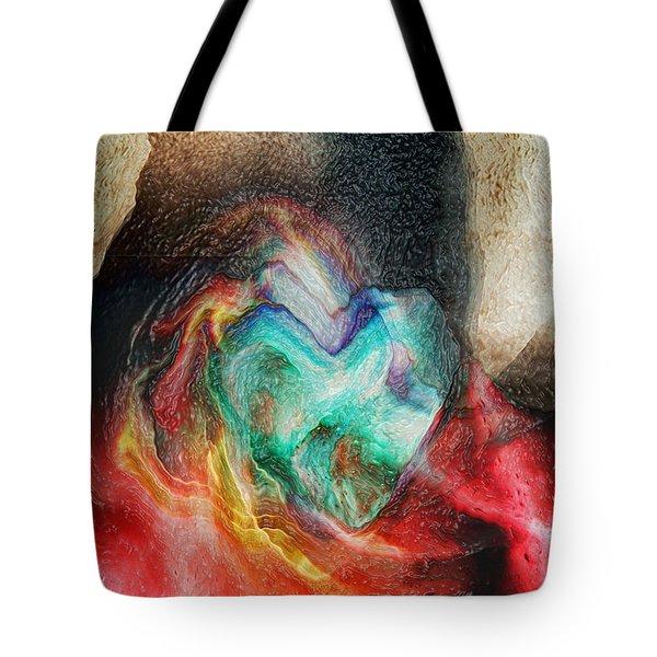Tote Bag featuring the digital art Heart Deep by Linda Sannuti