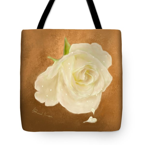 Heart Drops From A Rose Tote Bag