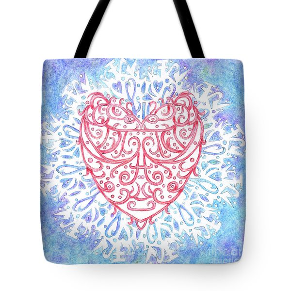 Heart In A Snowflake II Tote Bag