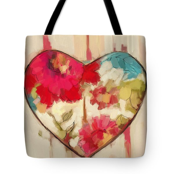 Heart In Stitches Tote Bag