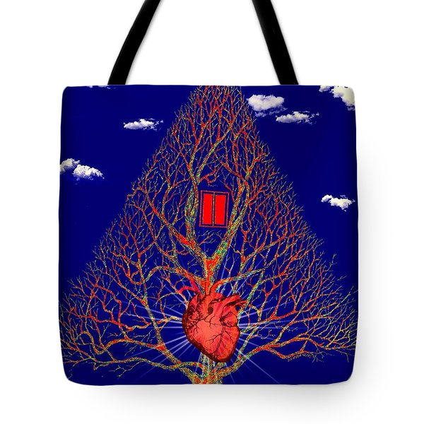 Heart Is The Abode Of The Spirit Tote Bag