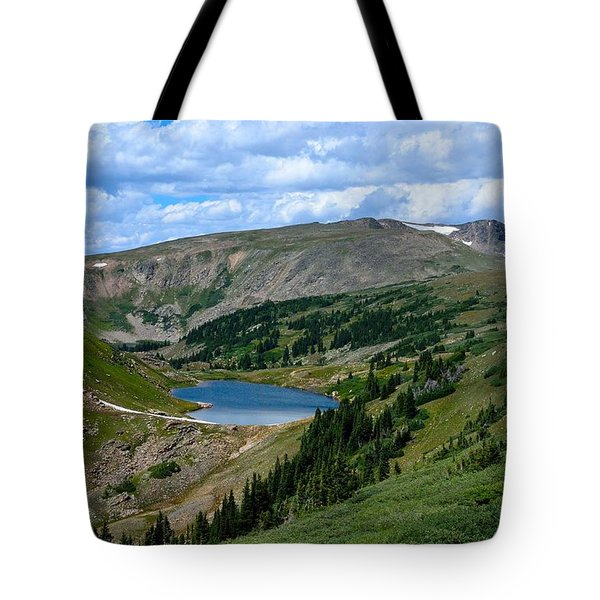 Heart Lake In The Indian Peaks Wilderness Tote Bag