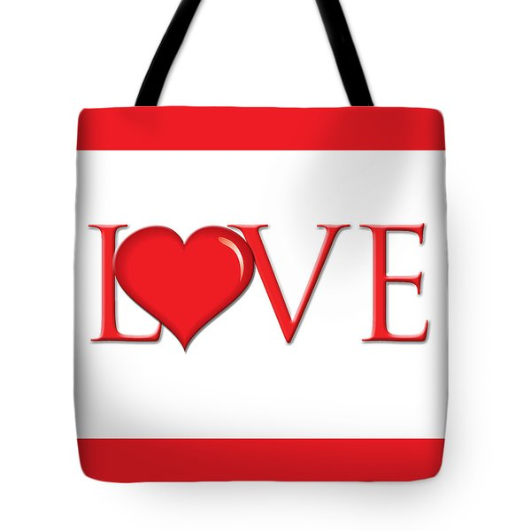 Heart Love Tote Bag by Greg Slocum
