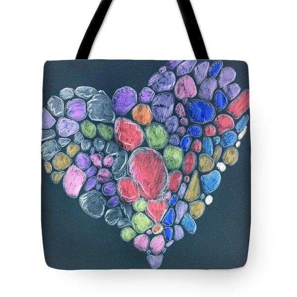 Heart Mosaic Tote Bag