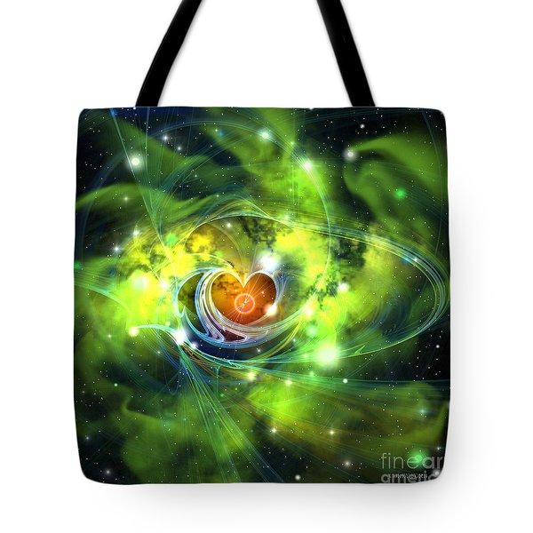 Heart Nebula Tote Bag